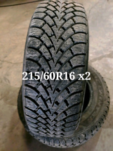 215/60R16 two winter tires