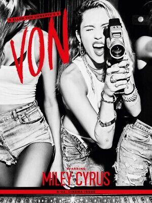 ELLEN VON UNWERTH's VON Magazine #2 Cinema Issue MILEY CYRUS Including Print NEW