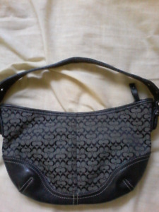 Small Handheld Authentic Coach Purse