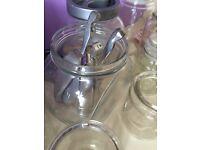 Sweet Jars - glass set of 10