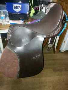 "New ap saddle 18"", new halters and used girth"