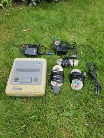 SNES Nintendo original snes console. Faulty power supply.