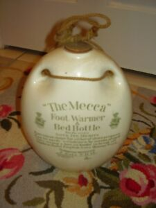 Antiques Set of six antique bottles and 2 bed warmers MECCA 1907