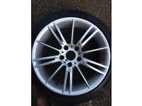 Bmw mv3 18 inch alloys and tyres. Off 2008 petrol 320i estate