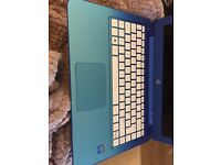 Blue HP laptop