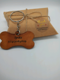 New Custom handmade Leather Dog Name Tag,