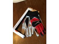 Nike American football gloves leather