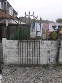 Wrought iron gate / garden gate / metal gate / steel gate / entry gate