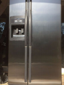 Beautiful stainless steel appliances - fridge and gaz stove