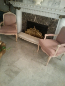 PAIR OF  PROVINCIAL  DECORATOR CHAIRS REDUCED PRICE