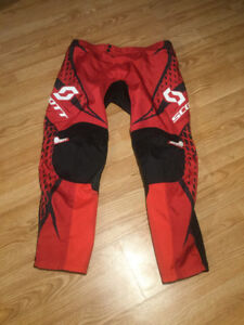 Pantalon de motocross rouge Scott grandeur (36)