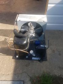 Compressor for commercial freezer
