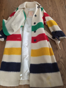 authentic 1970s Hudson Bay wool blanket coat
