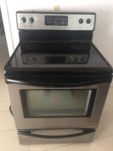 Frigidaire Stainless steel smooth glass top stove for sale