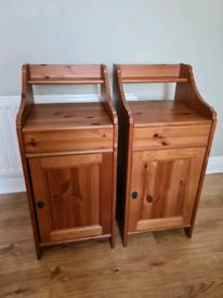 Pine bedside unit