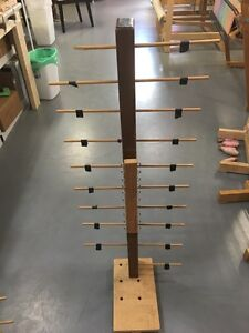 Home made bobbin rack for section beaming of loom Peterborough Peterborough Area image 1