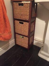 2 Bathroom storage drawers