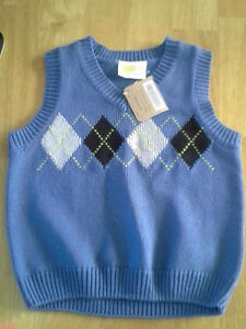Blue Boys Vest size 12-18 months mos with tags crazy 8 brand