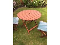 Garden Patio Table & Two Chairs