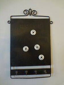 Magnet board with magnets and key rack
