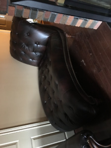 Ashley leather couch and chaise