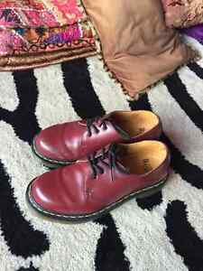 Dr Martens cherry red boots (1461 smooth)
