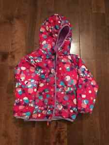 Girls North Face reversible winter coat 4T