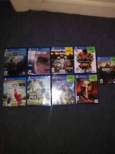 Ps4 with one controller and 9 games