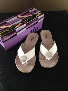 8.5 white wedding bridesmaid sandals