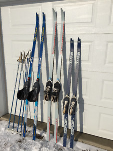 Cross country skis & boots