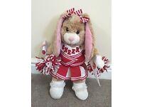 Girls build a bear cheerleader bunny