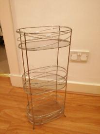 FREE Silver Metal Wire Shelf Storage