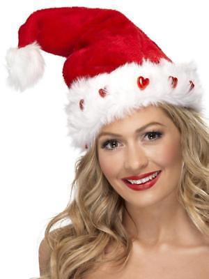 LIGHT UP CHRISTMAS SANTA HAT, FESTIVE FANCY-DRESS COSTUMES FUNNY FESTIVE HATS ()