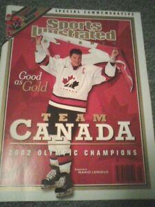2002 Sports Illustrated Team Canada Gold Mario Lemieux