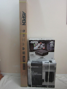 ASPEN PROJECTOR&PROJECTION SCREEN&HOME THEATER BRAND NEW