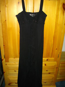 BLACK GOWN WITH BLING/RUFFLES