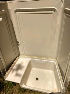 95 terry camper trailer bathtub and shower surround