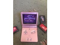 Gameboy advance SP with hand grip and four games no charger