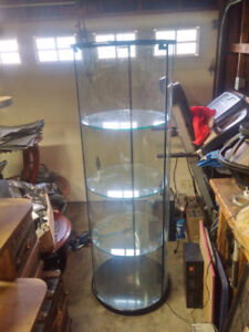 Glass Display Cabinet With Working Light