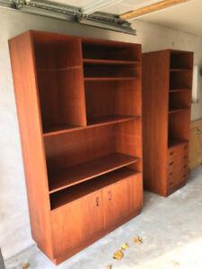 Mid Century Teak Wall Units/Shelves