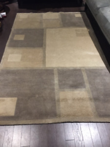 Area Rug 5'x8' 100% New Zealand Wool Hand Knotted