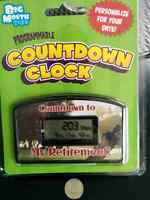 Retirement countdown golf themed clock