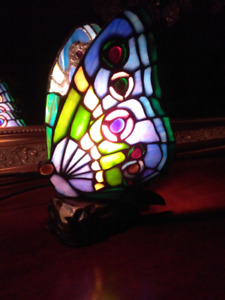 Tiffany papillon butterfly accent light lamp lampe