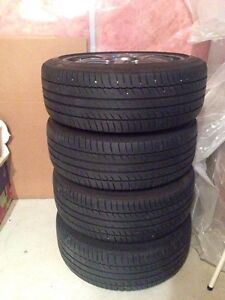 Four 17x7 wheels with 215/45R17 Michelin tires Strathcona County Edmonton Area image 5
