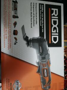 Brand New 12v Ridgid multi -tool with attachment