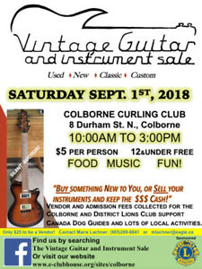 Vintage Guitar and  Instrument Sale - Colborne, ON