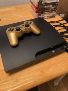 PS3 80GB avec manette, fils et 12 jeux pour 125$