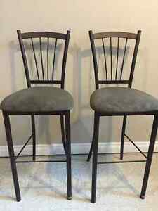 Set of 2 Raised Bar Chairs Strathcona County Edmonton Area image 1