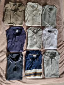 Men's polo bundle (x9) UK M