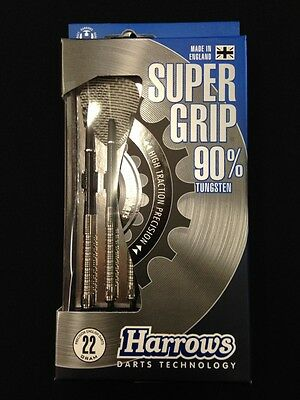 Harrows Super Grip 22g Steel Tip Darts 90% Tungsten 59732 w/ FREE Shipping